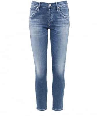 Mid Rise Elsa Cropped Jeans