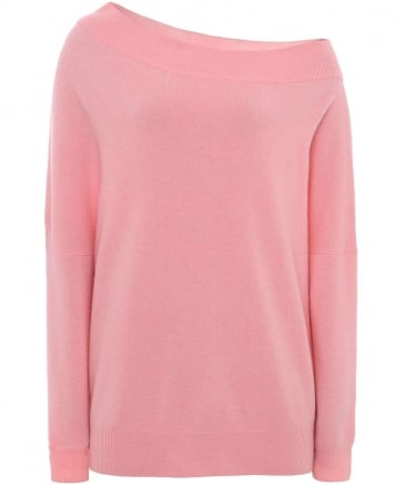 Cashmere Bardot Off-Shoulder Jumper