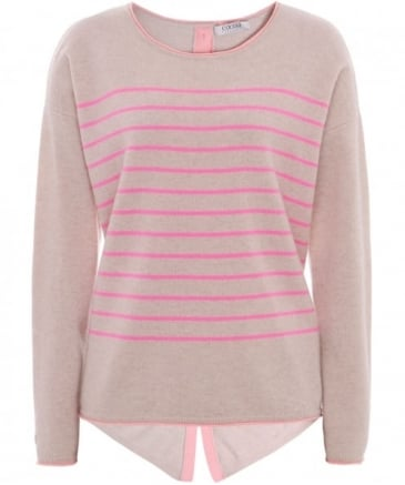 Cashmere Striped Star Jumper