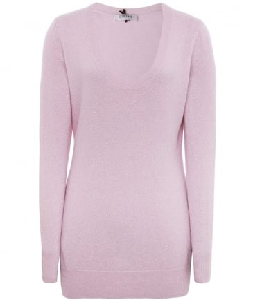 Shimmering Cashmere Scoop Neck Jumper