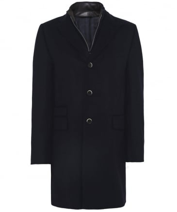 Virgin Wool Zip-Through Overcoat
