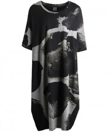 Abstract Print Tunic Dress