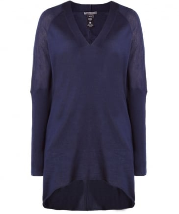 Sheer Wool V-Neck Jumper