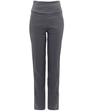 Stretch Fit Linen Foldover Trousers
