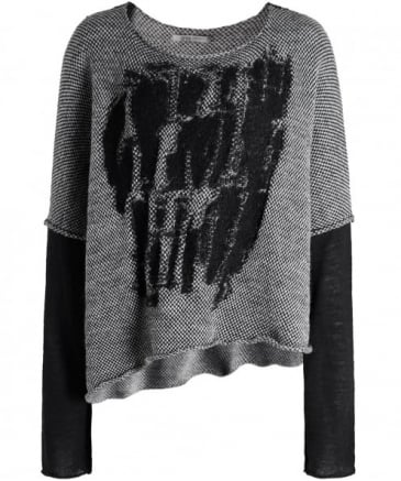 Wool Textured Asymmetric Jumper