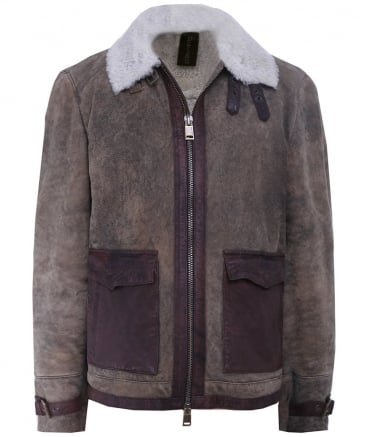 Collared Shearling Jacket