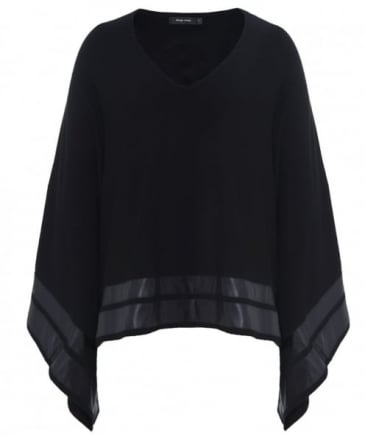 Katori Faux Leather Trim Jumper
