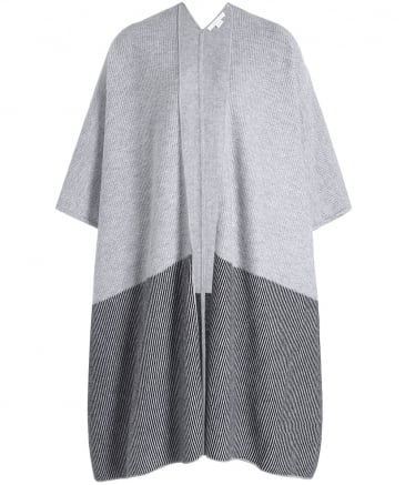 Cashmere Narrow Stripe Cape