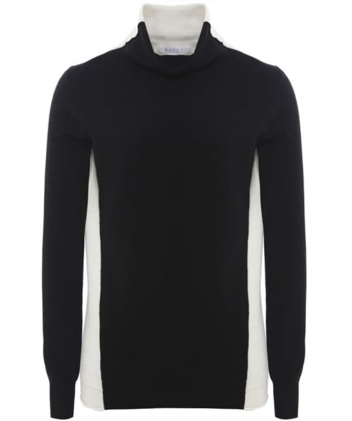 Duffy Contrast Polo Neck Jumper