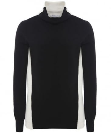 Contrast Polo Neck Jumper