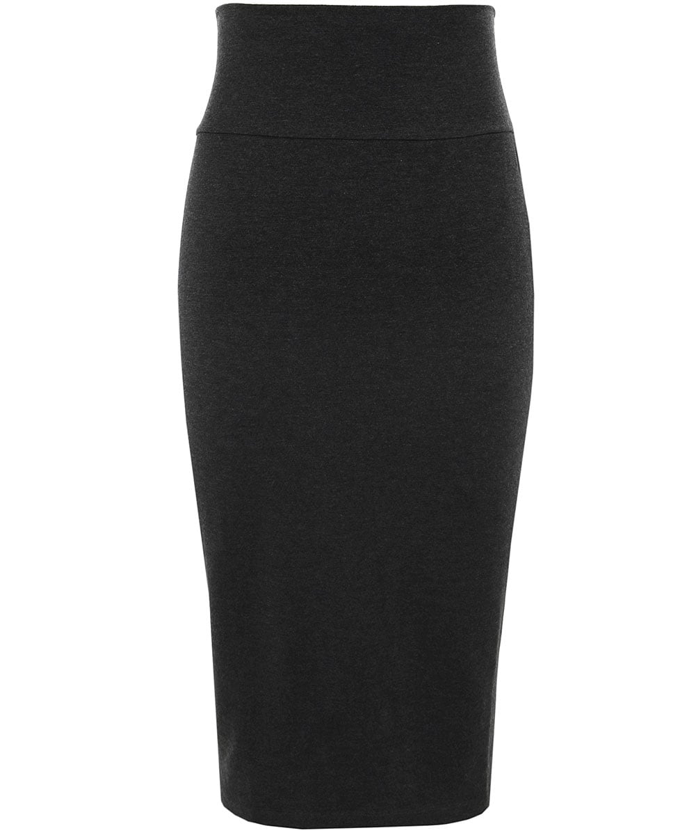 eileen fisher anthracite stretch jersey pencil skirt jules b
