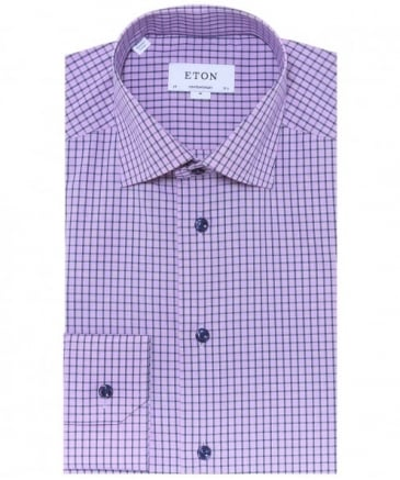 Contemporary Fit Grid Check Shirt