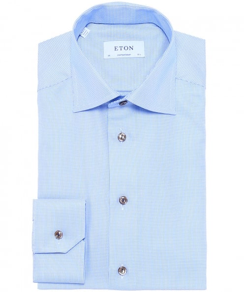 Eton Contemporary Fit Houndstooth Twill Shirt
