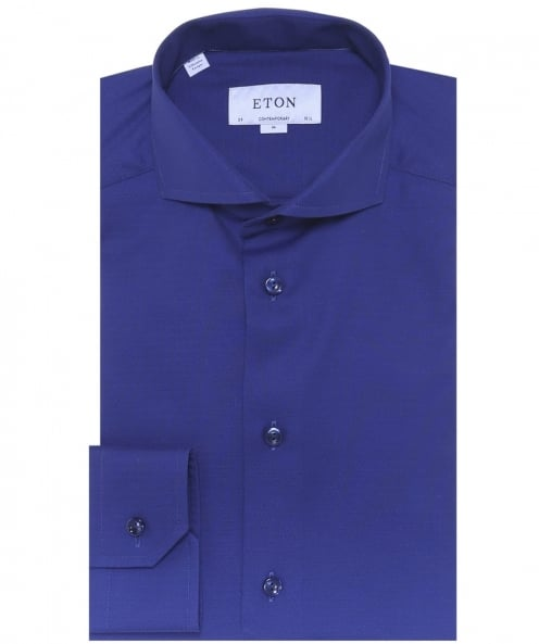 Eton Contemporary Fit Signature Twill Textured Shirt