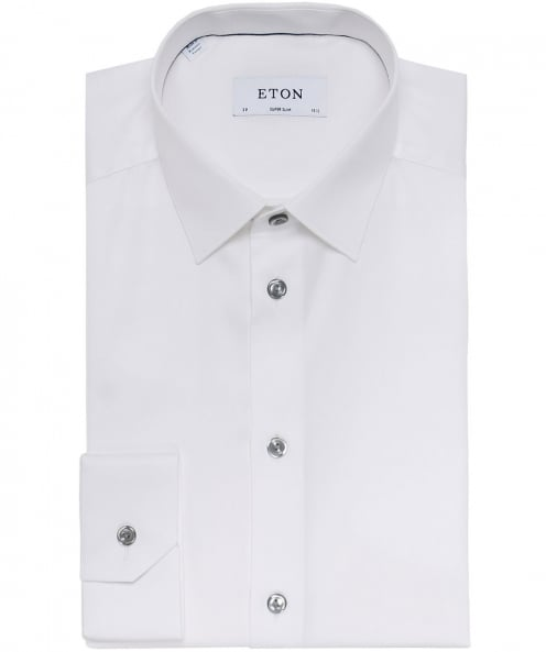 Eton Super Slim Fit Twill Shirt