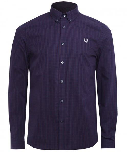 Fred Perry Basketweave Gingham Check Shirt
