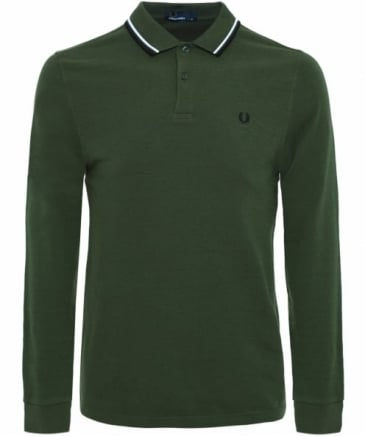Long Sleeve Twin Tipped Polo Shirt