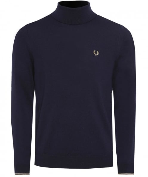 Fred Perry Merino Wool Roll Neck Jumper