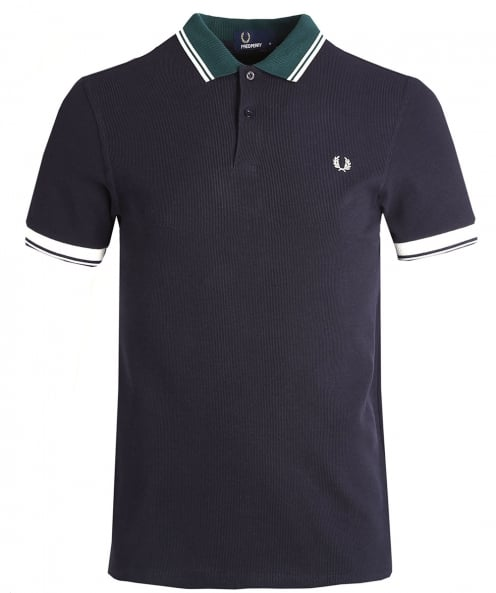 Fred Perry Ribbed Trim Pique Polo Shirt