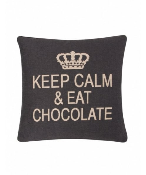 FS Home Collections Keep Calm & Eat Chocolate Cushion