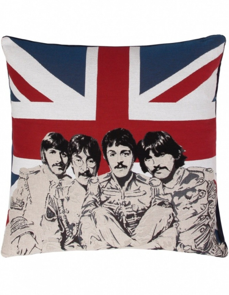 fs home collections union jack beatles cushion jules b. Black Bedroom Furniture Sets. Home Design Ideas
