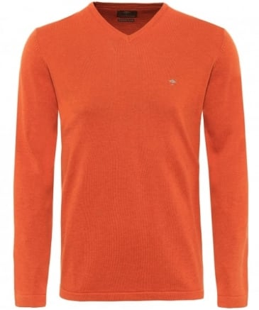 V-Neck Cotton Jumper