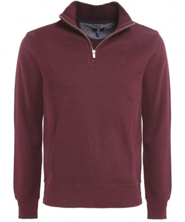 Cotton Half-Zip Sacker Jumper