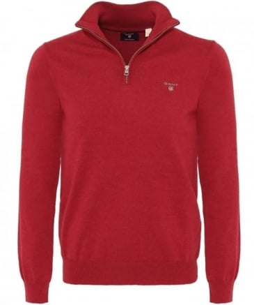 Wool Blend Half-Zip Jumper