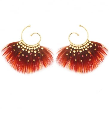 Buzios Mini Feather Earrings