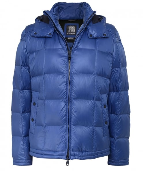 Geox Hooded Puffer Down Jacket