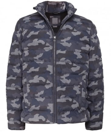 Quilted Camo Print Jacket
