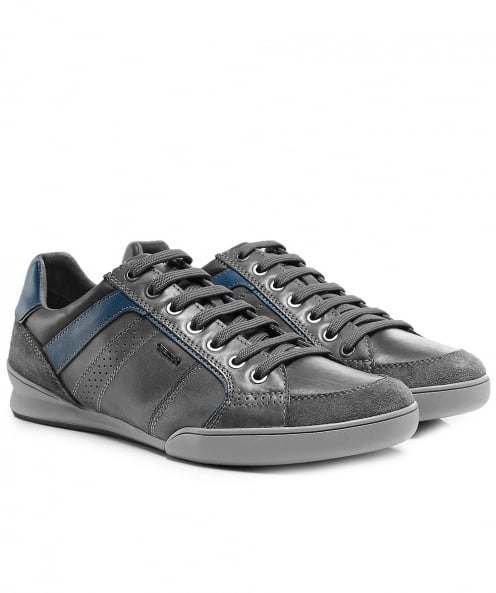 Geox Waxed Leather & Suede Kristof Trainers