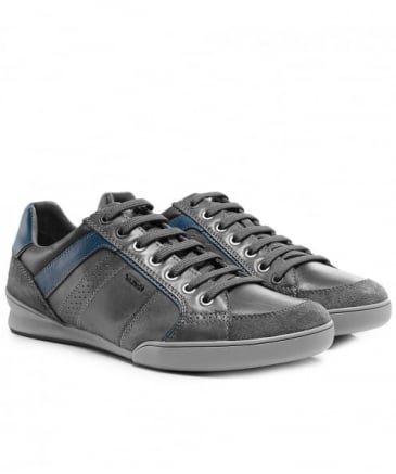 Waxed Leather & Suede Kristof Trainers