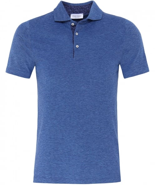 Gran Sasso Cut Away Collar Polo Shirt