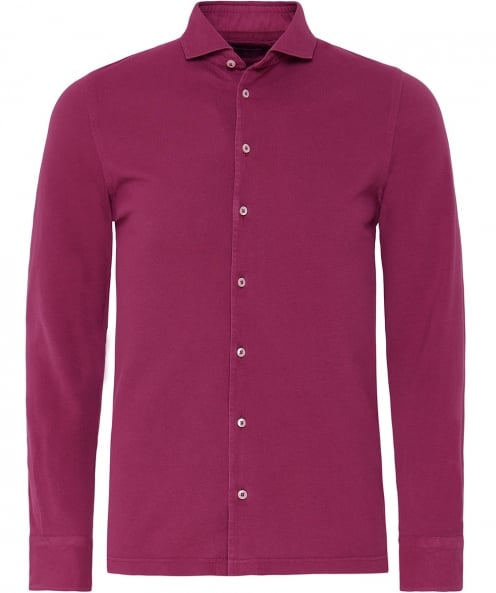 Gran Sasso Pique Jersey Cotton Shirt