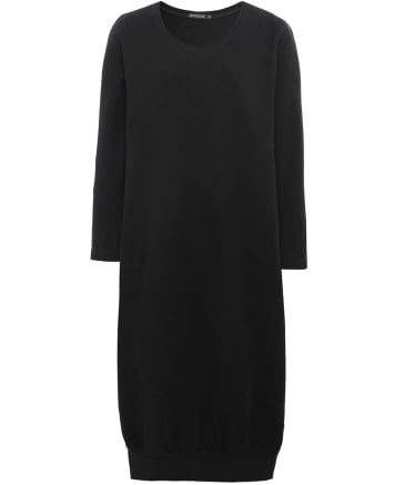 Jersey Panel Jumper Dress