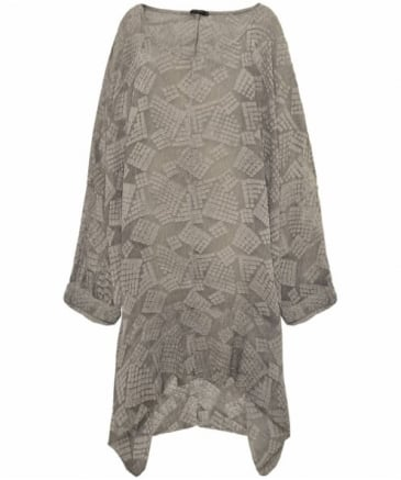 Oversized Silk Tunic Top