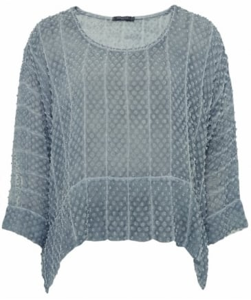 Sheer Silk Spot Top