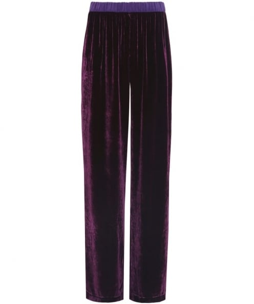 Grizas Velvet Wide Leg Trousers