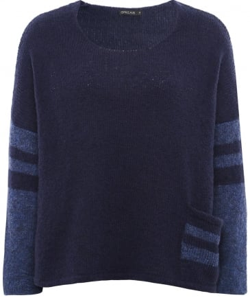 Wool Stripe Sleeve Jumper