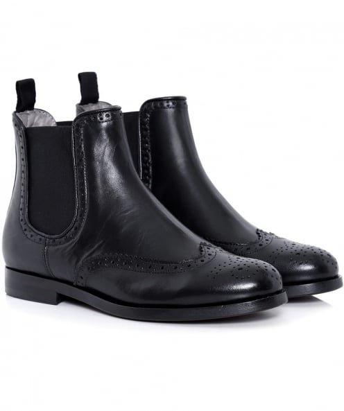 H by Hudson Asta Brogue Chelsea Boots