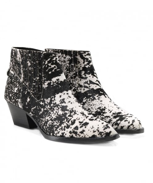H by Hudson Pony Hair Ernest Ankle Boots