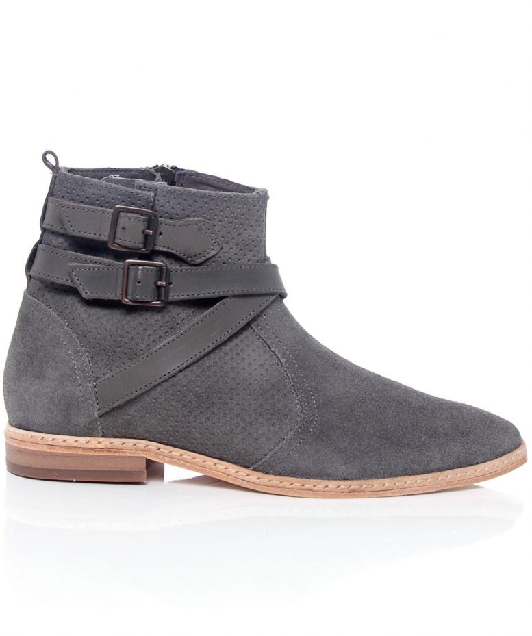 h by hudson clay suede tab boots available at jules b