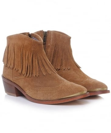 Tala Suede Fringe Boots