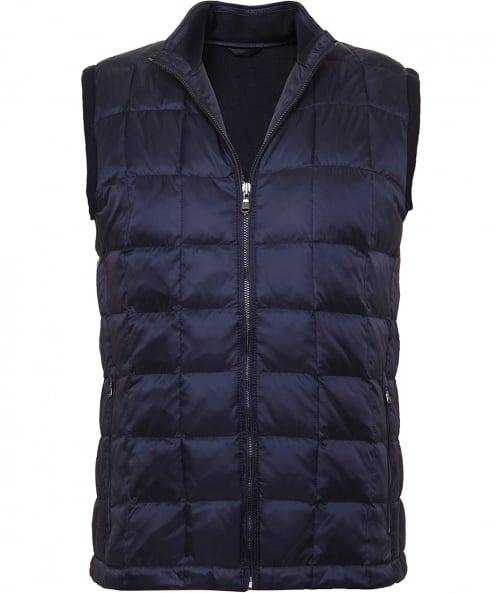 Hackett Knitted Reverse Down Gilet