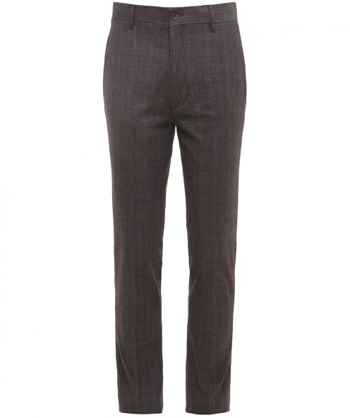 Hackett Slim Fit Cotton Prince of Wales Check Trousers