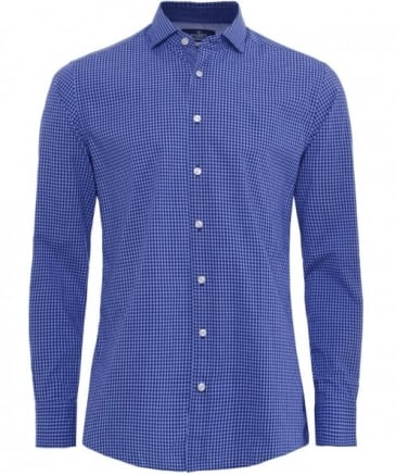 Slim Fit Gingham Heather Shirt