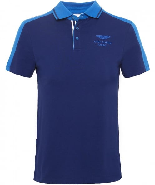 Hackett Slim Fit Paneled AMR Polo Shirt