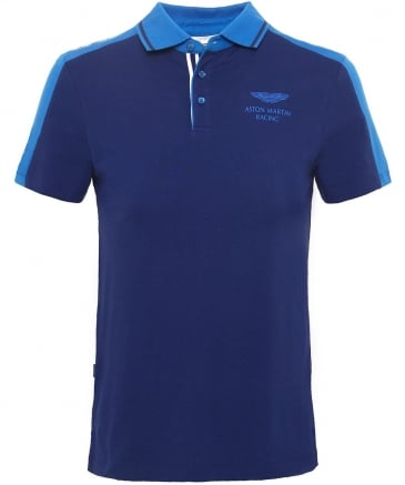 Slim Fit Paneled AMR Polo Shirt