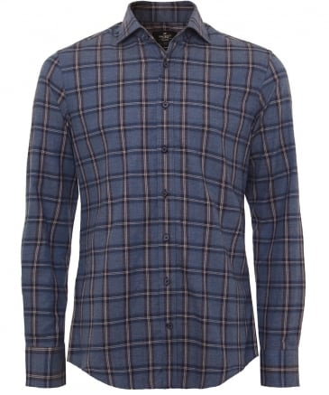 Slim Fit Plaid Winter Shirt